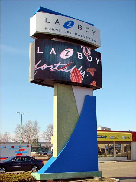 La-z boy digital sign