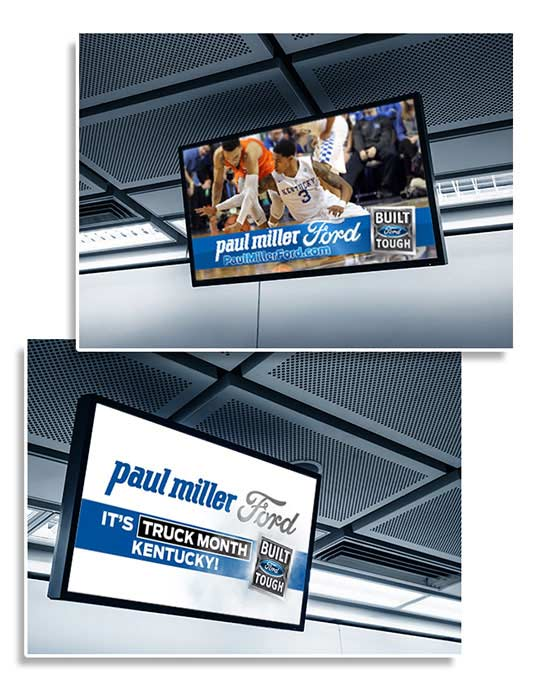 advertising signs for sports arenas