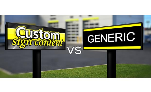 Custom LED Sign Content Vs Generic
